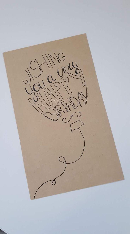 Süße und einfache Idee für eine Geburtstagskarte. Leicht selber zu machen und #cheapgiftideas