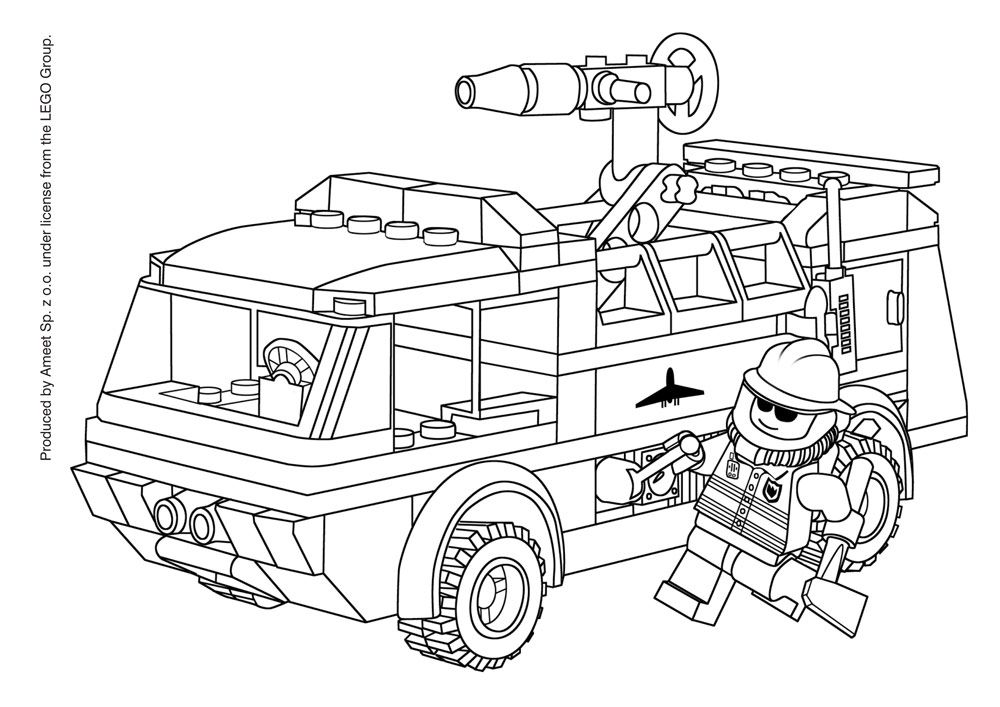 lego police on motorcycle coloring pages | Lego coloring pages ...