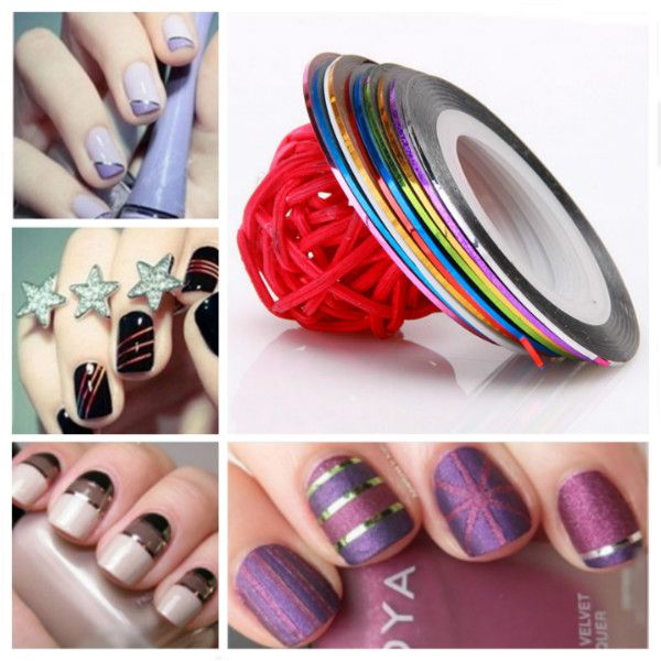 Nail art striping tape design lines best nail ideas 10 color striping tape line nail art decoration sticker health prinsesfo Choice Image
