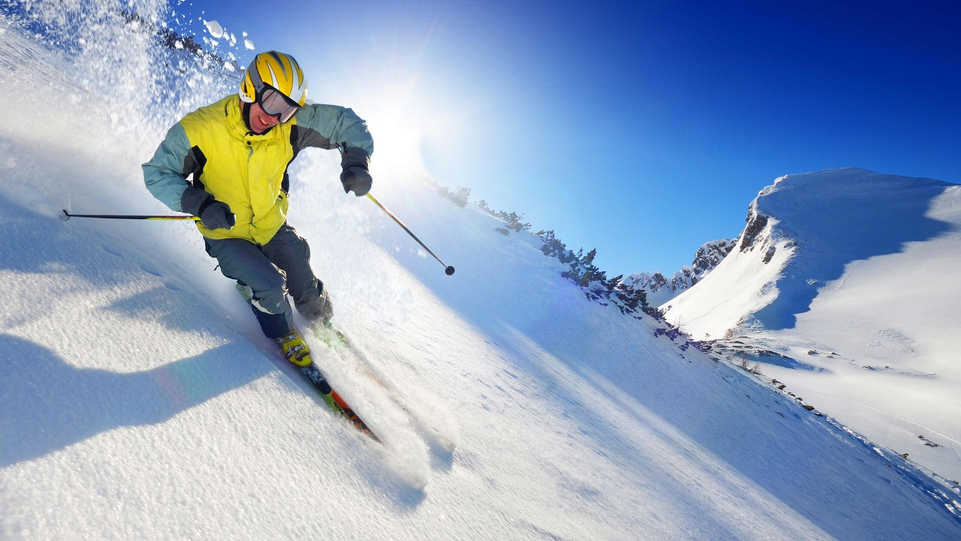 mountain skiing, descent, sportsman - http://www.wallpapers4u.org/mountain-skiing-descent-sportsman/