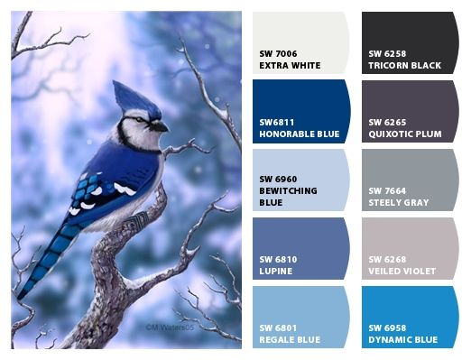 Blue Jay Color Palette Inspiration Chip It By Sherwin Williams Chipcard Christy C