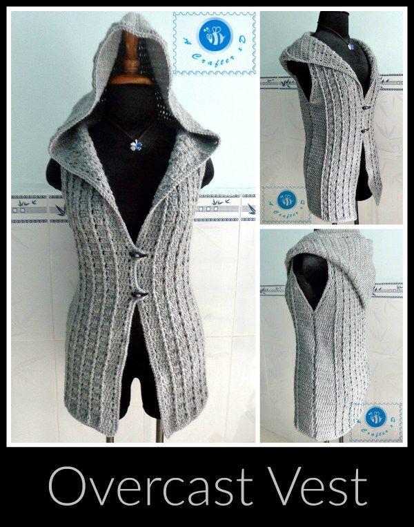 Overcast Vest ~ Maz Kwok s Designs   Crochet   Pinterest   Ganchillo