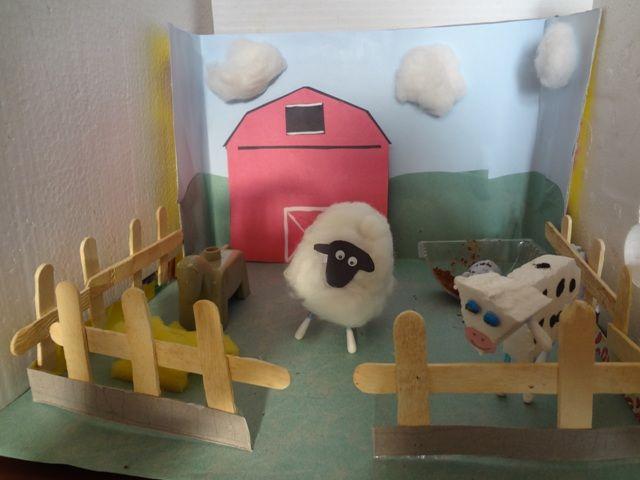 Kids Diorama With Details: DIY – Farm Diorama