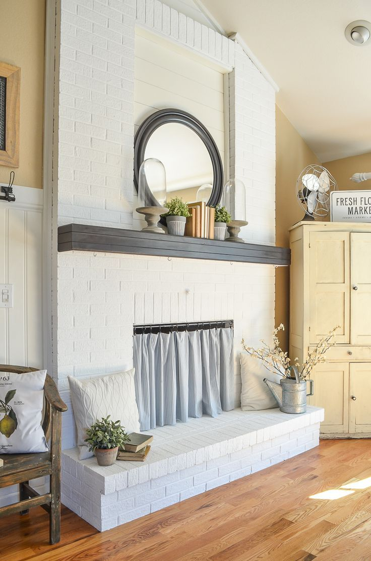Diy Fireplace Curtain Creative And Simple Way To Cover A Opening