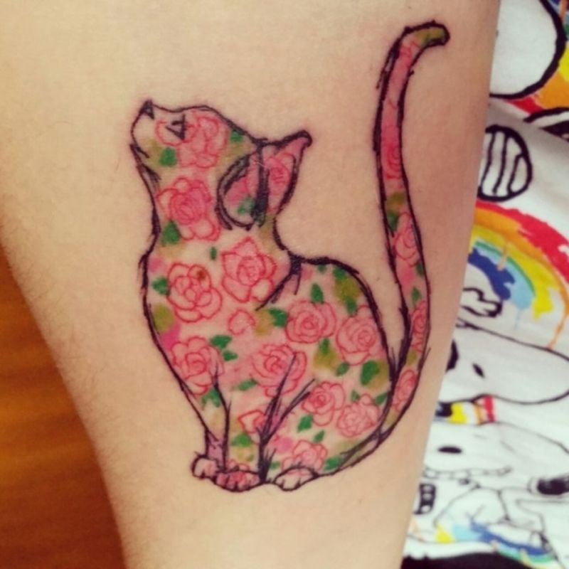 #Meow! Check out These 29 Best-ever Kitty Tattoos ...                                                                                                                                                     More