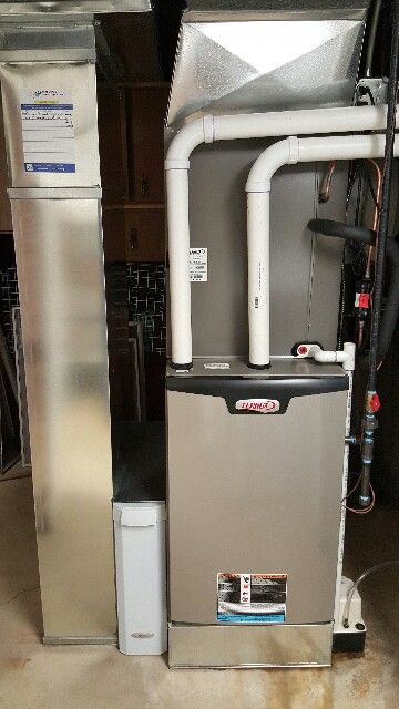 Lennox slp98 98 efficient modulating furnace installed Most efficient heating systems