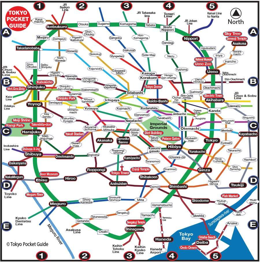 TOKYO POCKET GUIDE Tokyo Tourist map with the best Tourist