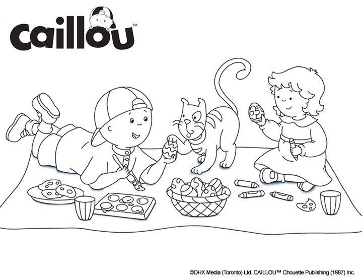Caillou coloring sheet easter egg fun baby girl pinterest garderie - Coloriage car wash ...