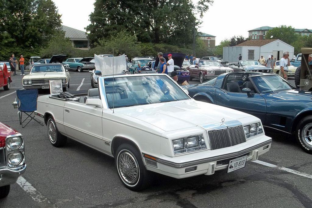 1985 Chrysler Lebaron Convertible Seen At Tonights Cruise