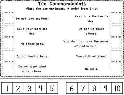 picture about 10 Commandments for Kids Printable named 10 Commandments Worksheet Printable Picture Al