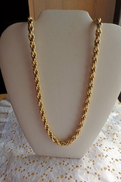 34f53c39daeec West Germany Gold Rope/Chain Necklace Marked West Germany Cold Chain ...