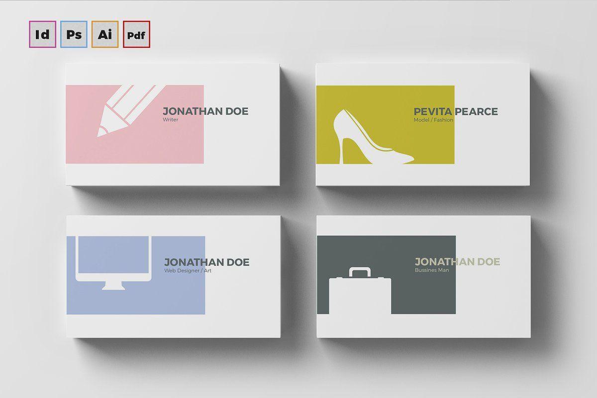Business card 3 ad sizepaperbleedsvariation