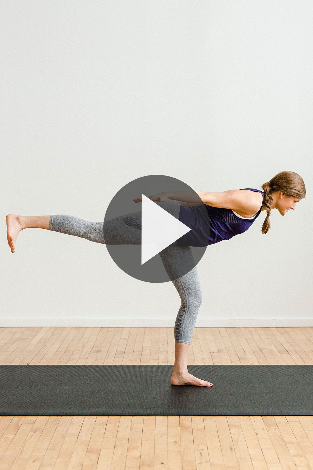 Lengthen And Tone With This Sweaty Power Yoga Workout Video No Equipment Needed