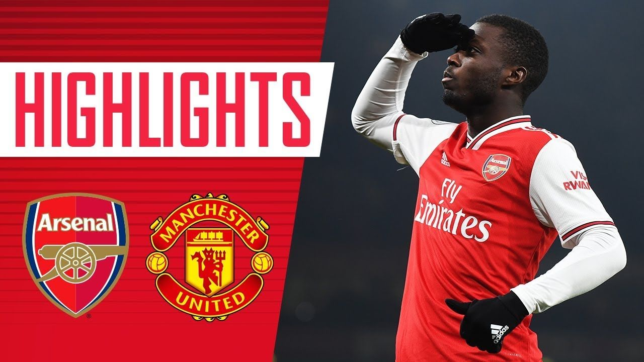 Arsenal Vs Manchester United 2 0 All Goals Highlights Jan 1 2020 In 2020 Arsenal Vs Manchester United Manchester United Epl Premier League