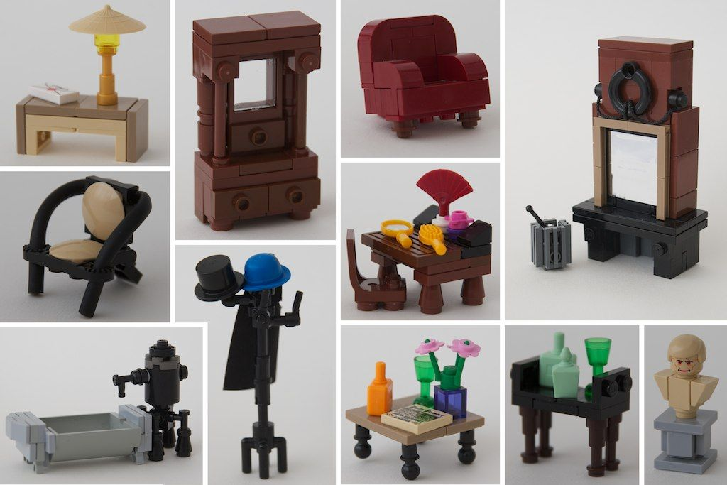 Assorted Interiors For Our Lego Homes Lego Pinterest