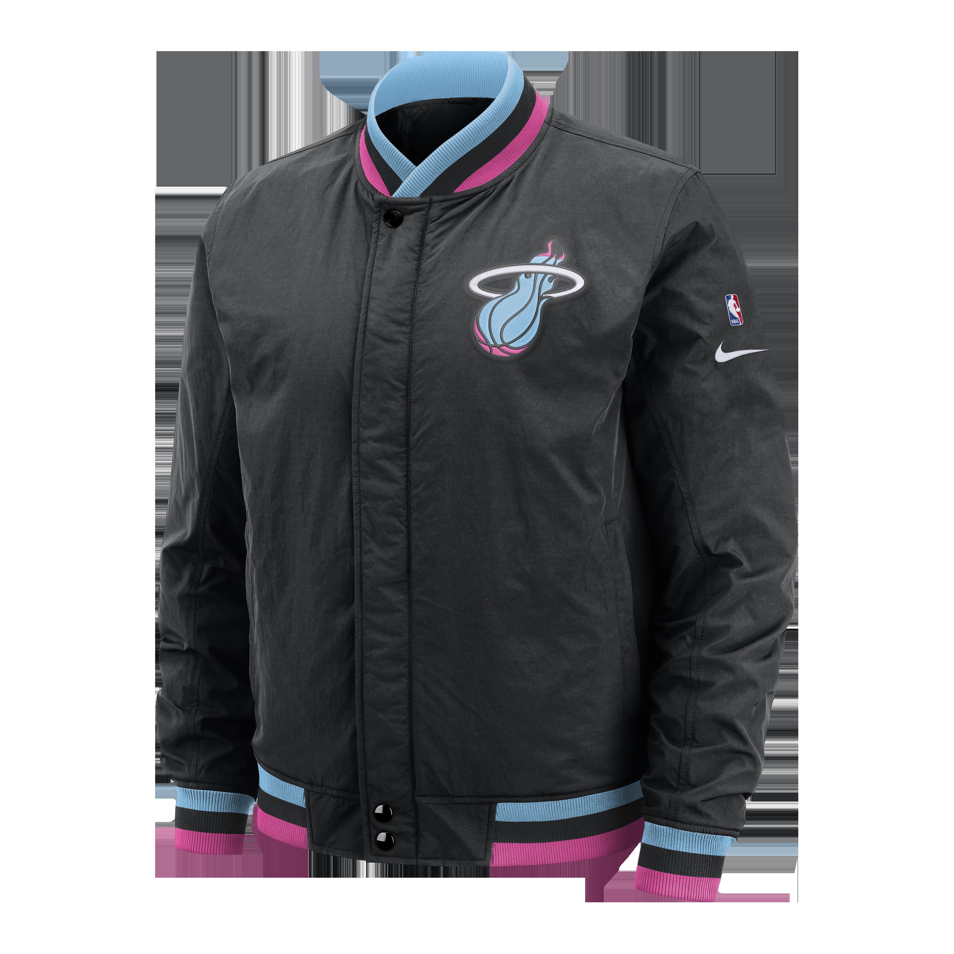 Nike Miami Heat Vice Nights Courtside Jacket Nba Jacket Miami Heat Mens Jackets