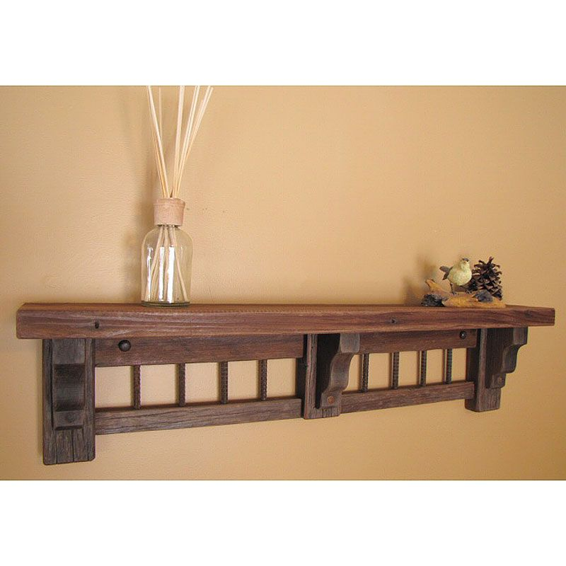 Rustic Wood Wall Shelves | View detailed images (2) | Decor and More ...