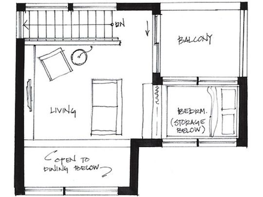 This page showcases a 500 square foot small house designed by