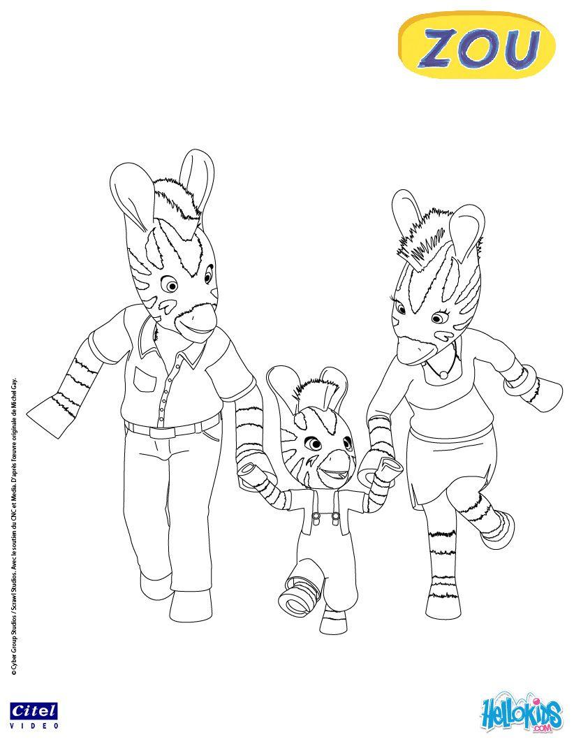 Zou and his parents coloring page digi scrap pinterest