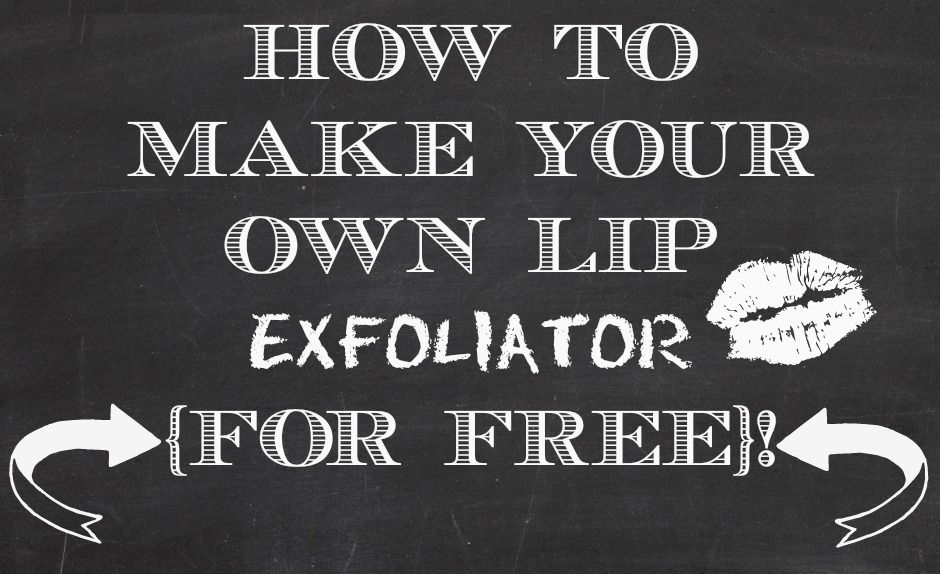 Diy how to make your own lip exfoliator for free from