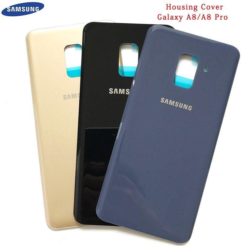 timeless design 3ac40 73dad Original Samsung Galaxy A8/A8 Pro 2018 Glass Battery Cover ...