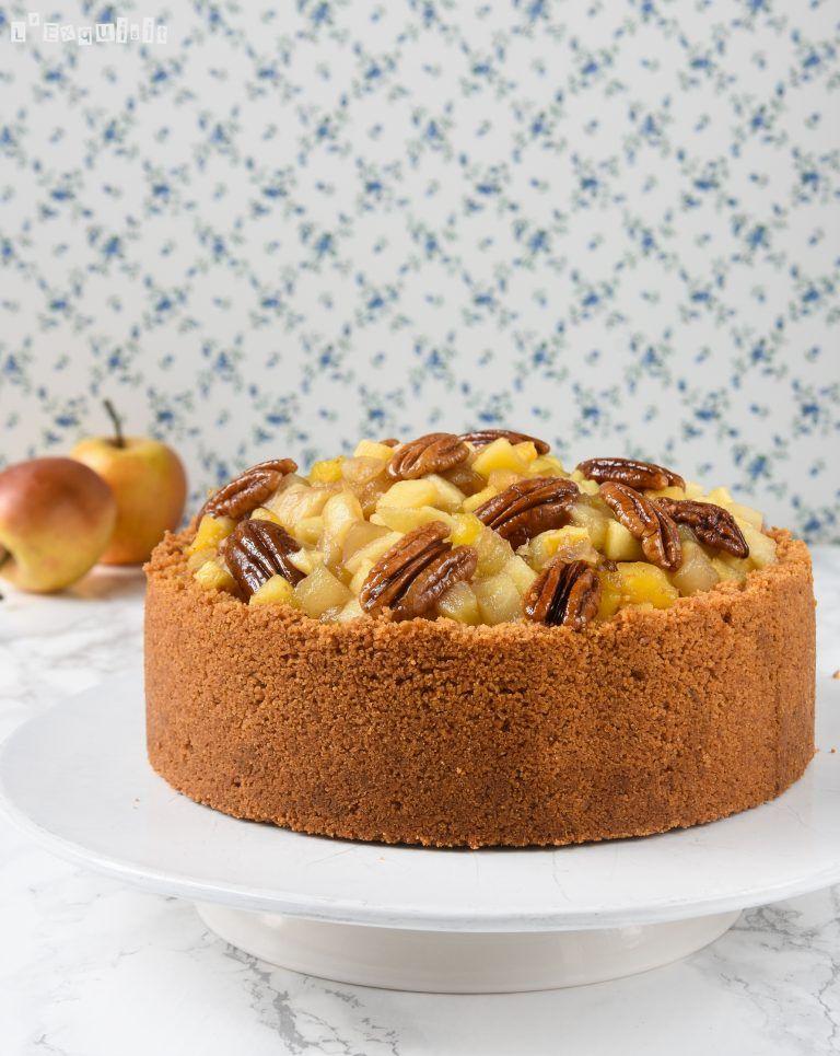 Tarta de queso con manzanas y nueces caramelizadas nel for Ricette spagnole