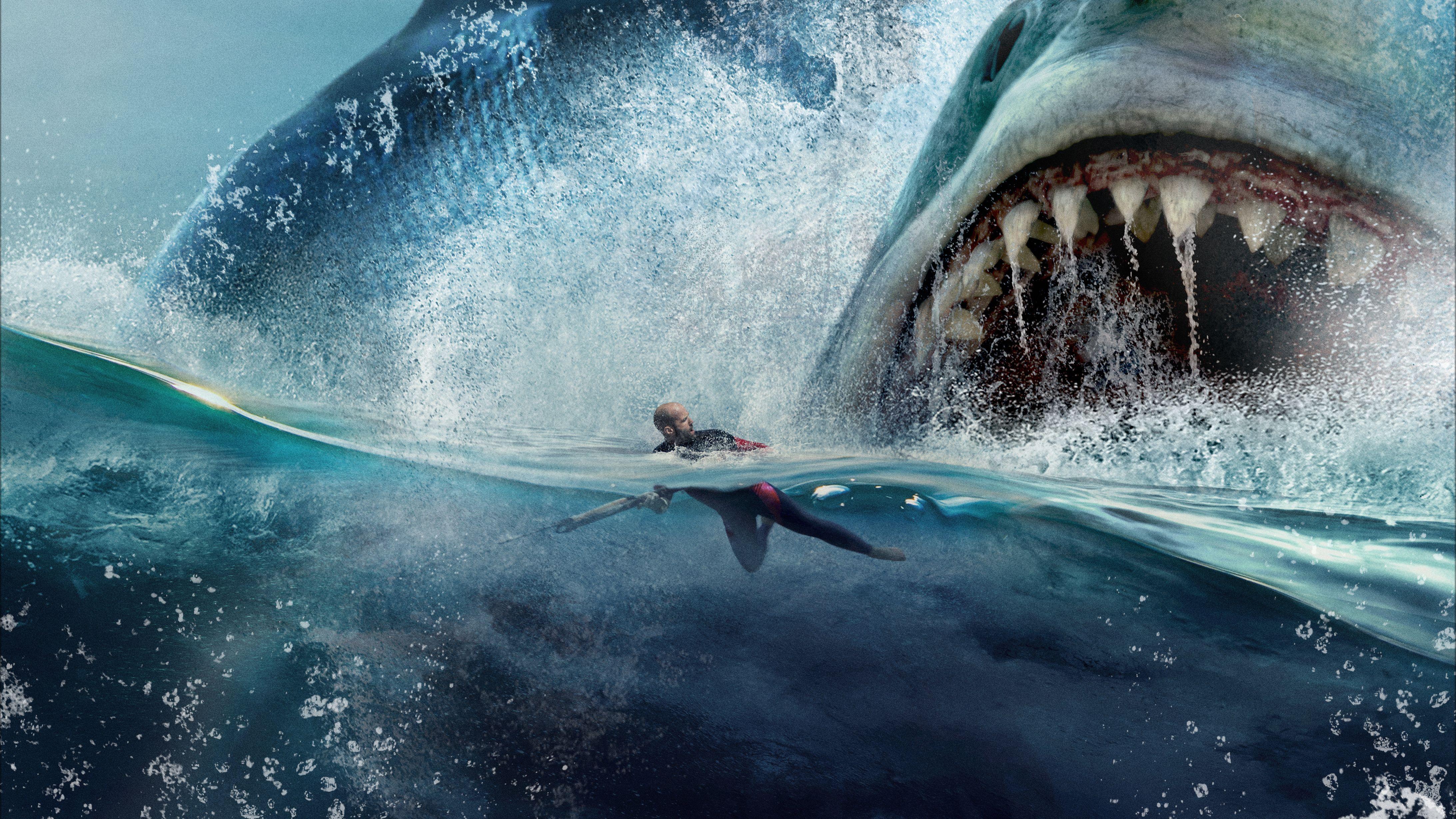 Jason Statham In The Meg 4k Megalodon Imagenes De Tiburones Peliculas En Linea Gratis