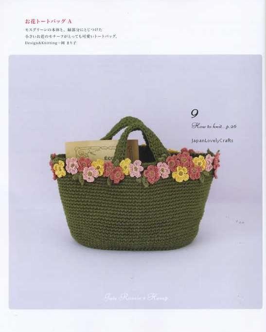 Linen Natural Bags Japanese Crochet Pattern Book Ramie Hemp