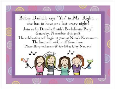 cute Bachelorette invite saying :) | Going To The Chapel ...