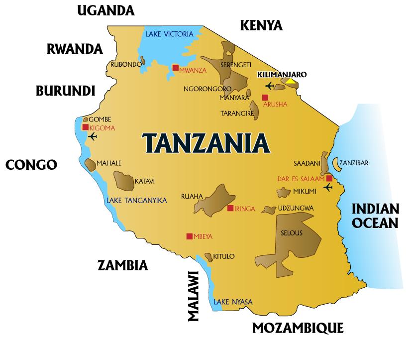 X X Marks The Spot Tanzania Map Tanzania Pinterest Tanzania - Map of tanzania