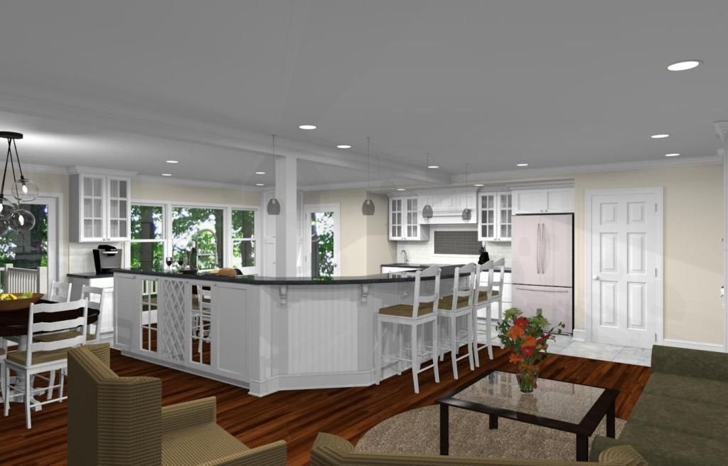 Open Kitchen Remodel  Kitchen Remodeling Design With Open Floor Extraordinary Kitchen Remodel Design Review
