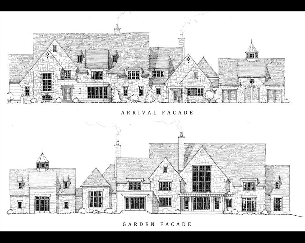 Stephen Fuller Designs - Austere English Manor Drawings | Palisades ...