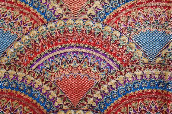 stunning arabian pattern screenprint red gold fat quarter patterns