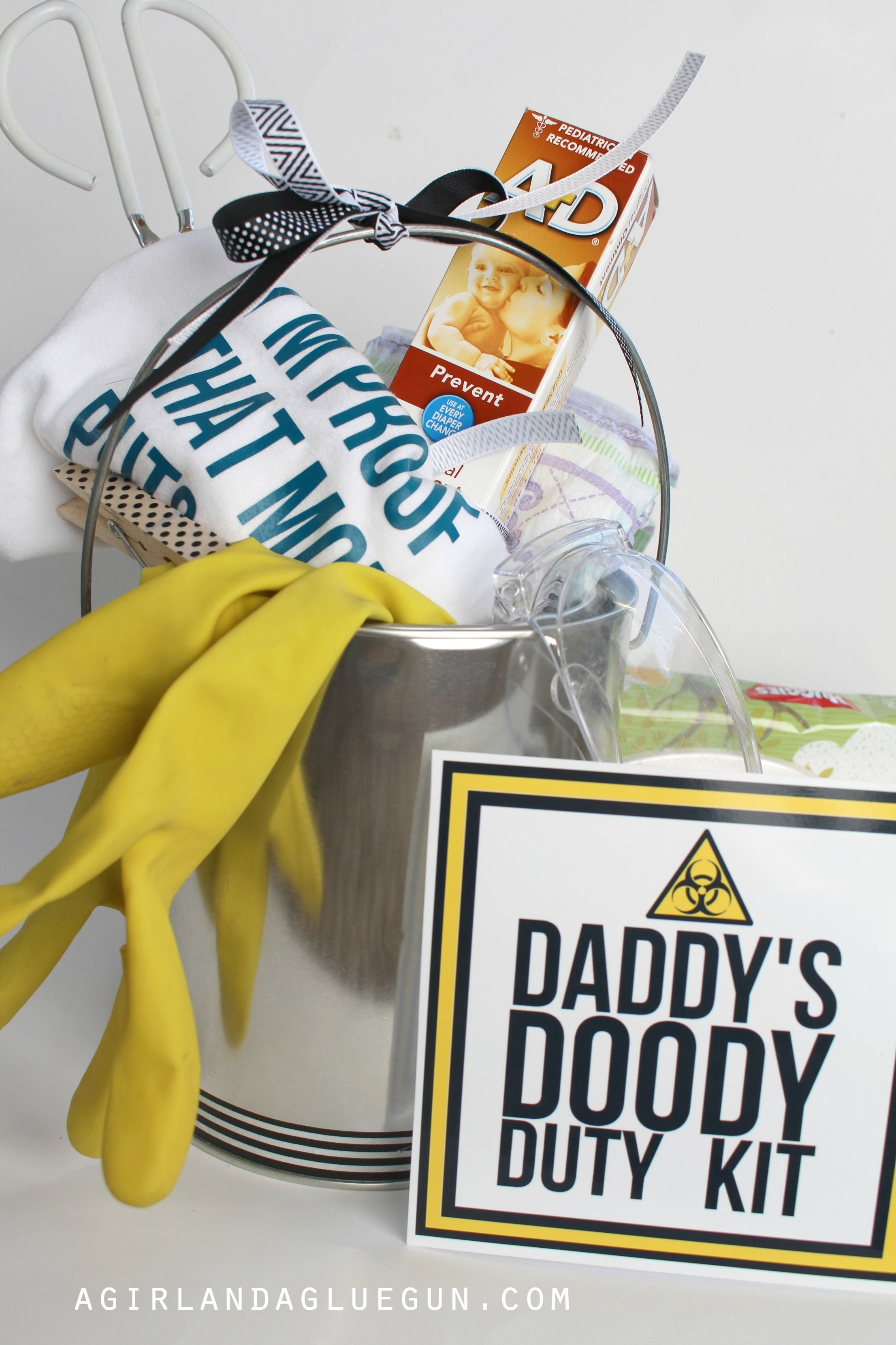 funny baby shower gift-daddy doody duty kit | showers, parties, fun