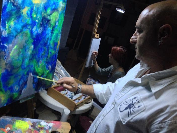 Fabio Maddalo - estemporanea di pittura - Monteroni di Lecce