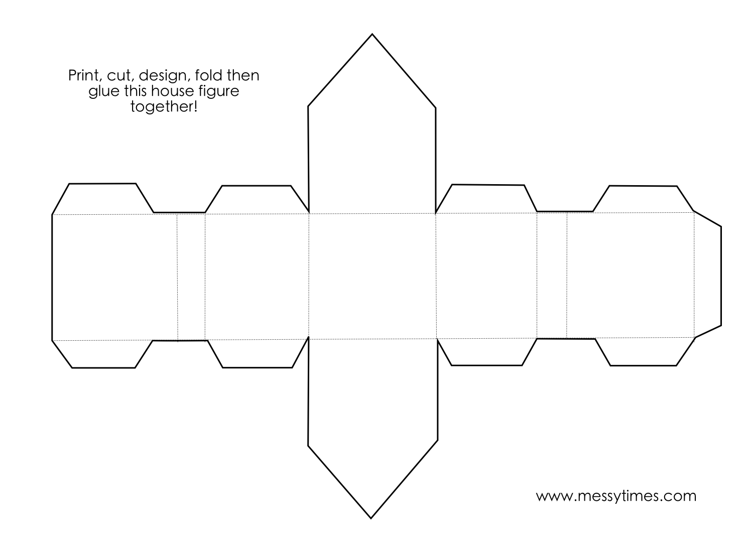 A 3d House Object To Cut Design Fold And Glue Together Geometry Printable Kids Activity