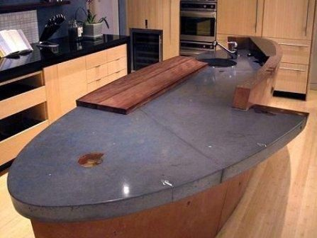 Concrete Countertops With Wood Inlay Google Search