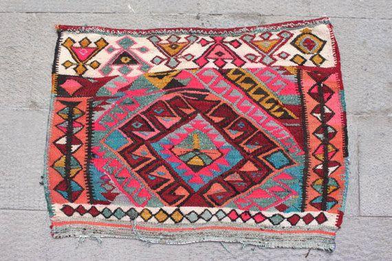 Etsy $195 Handmade Vintage, Kilim Rug, Turkish bohemian 2x3, Area Rug, 2x3 kilim, 2x3 vintage rug, Turkish rug 2x3, Bohemian Handmade Rug