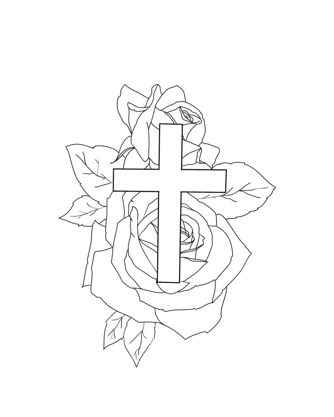 Cross Tattoo Outline : cross, tattoo, outline