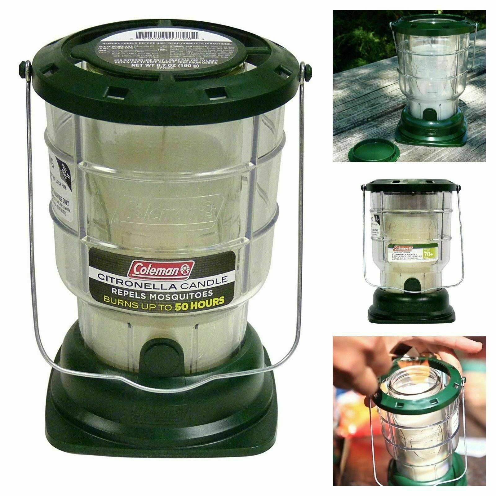 Citronella Candle Outdoor Lantern Camping 70 Hours Mosquitoes Repel