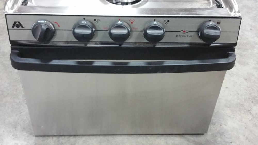 "RV  - 17"" - ATWOOD 3-BURNER STOVE W/OVEN - STAINLESS STEEL  #ATWOOD"