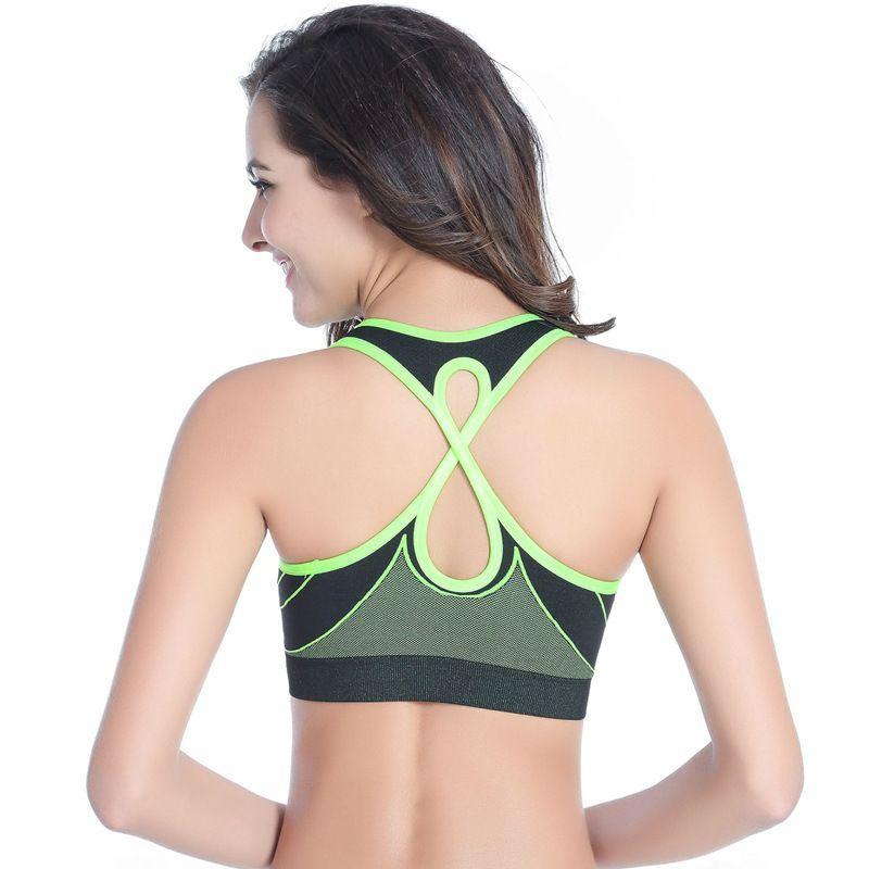 cbbfc399ece35 Lenagaga Brassiere Sports Bra Teenage Girl Tank Top Women Gym Top Pad Yoga  Top Women Sleeveless
