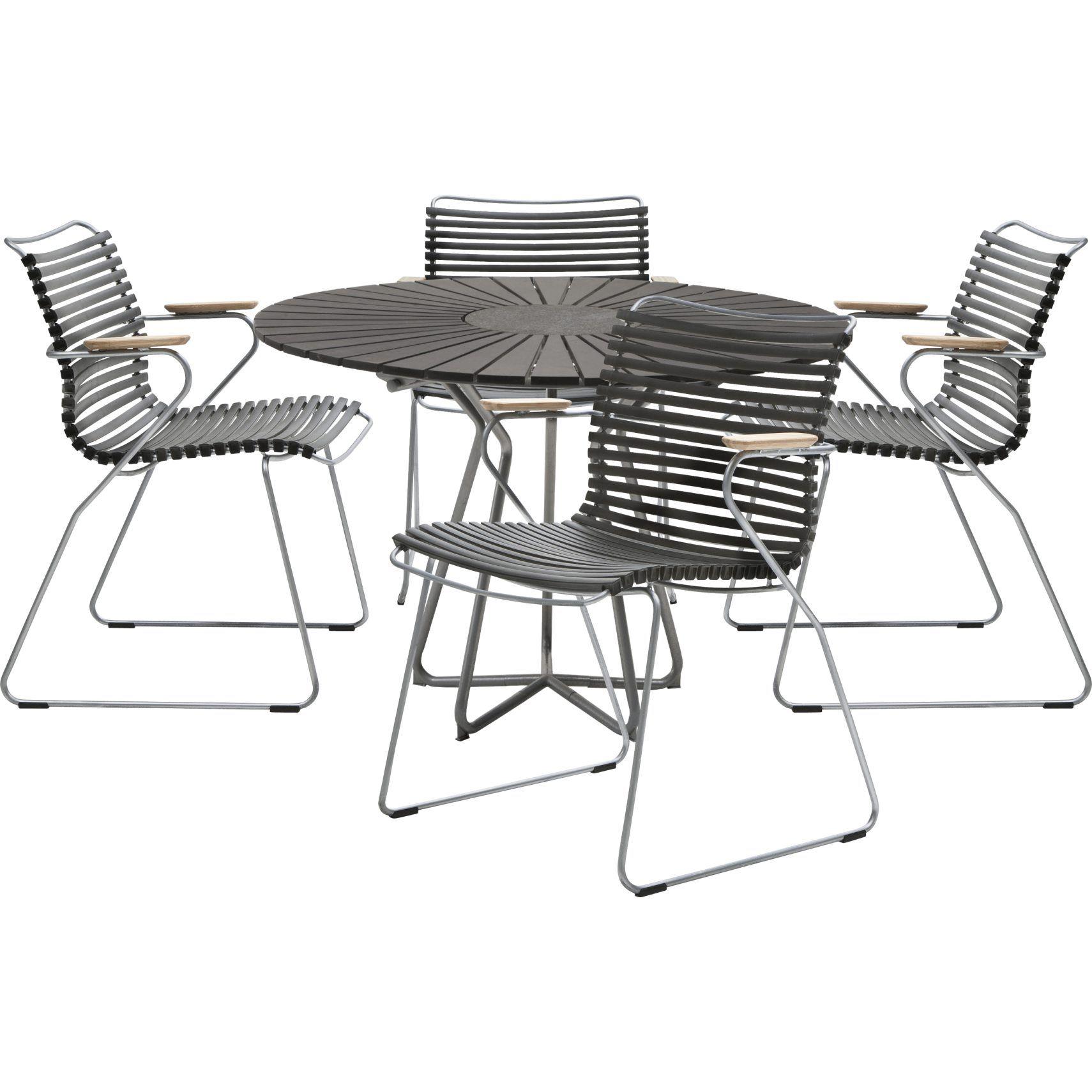 Circle havebord med sort polywood bordplade og pulverlakeret ...
