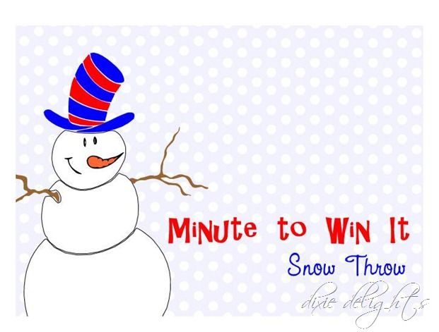 Minute To Win It Holiday Party + TONS of Free Printables Free