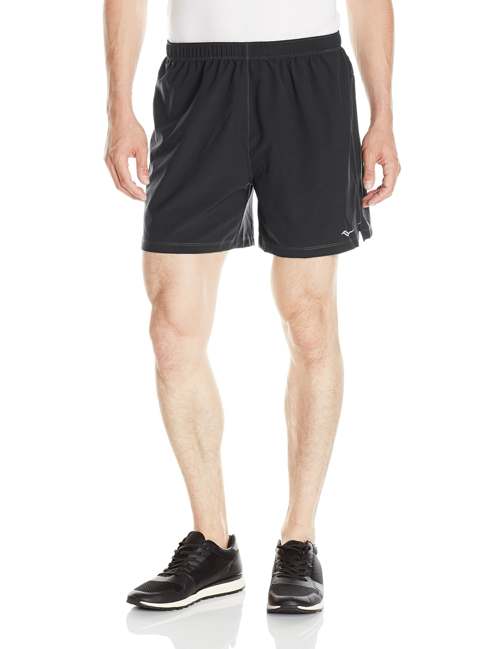 Saucony Men's Alpha Shorts, X-Large, Midnight/Midnight: This Saucony  classic is tops when it comes to bottoms, just right for any run with  stretch woven ...