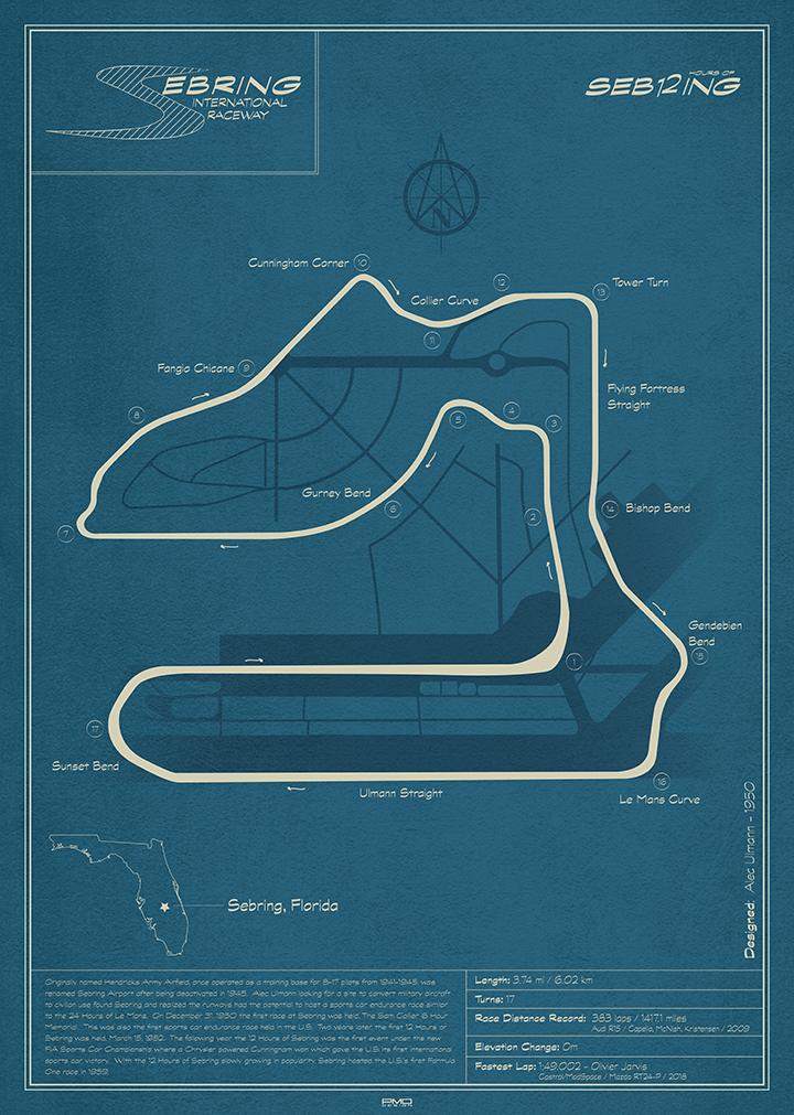 Sebring International Raceway Art Print By Peter Dials In 2021 Sebring Sebring Raceway Racing Circuit