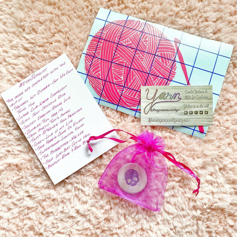 Yarn Skull Crochet Pins Crochet Lover Gifts Gifts For Etsy Crochet Lovers Gift For Lover Crochet