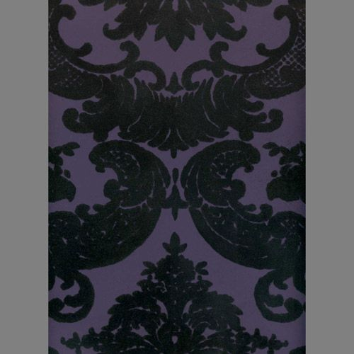 Black Purple Madison Damask Velvet Flocked Wallpaper Flock Wallpaper Damask Wallpaper Velvet Wallpaper