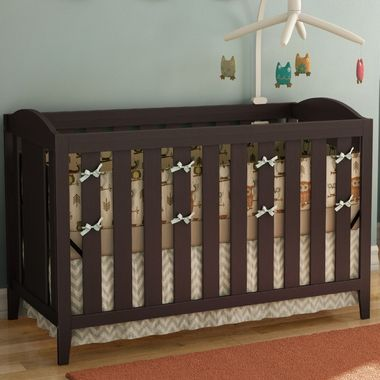 Southshore Angel Baby Crib With Toddler Bed Rail In Espresso Bed Rails For Toddlers Cribs Nursery Set