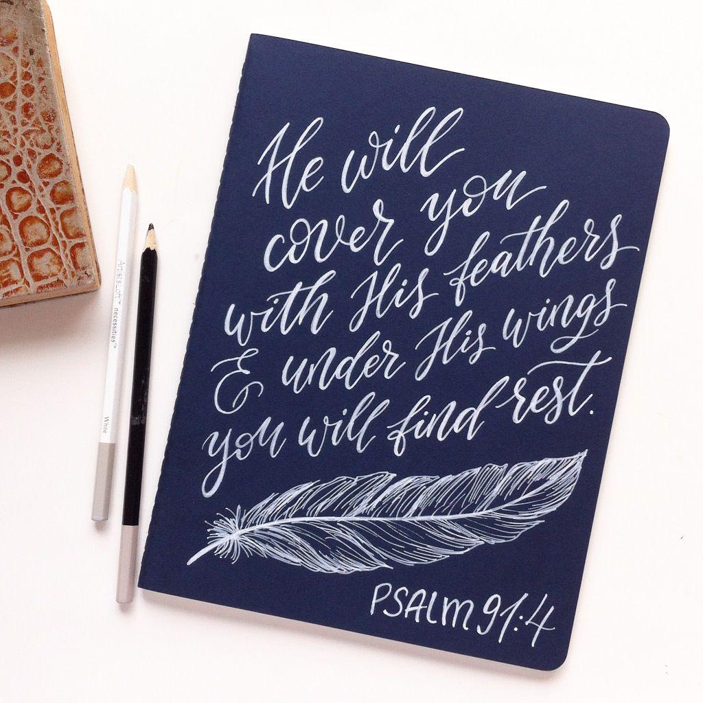 Large Prayer Journal, Sermon notebook, Christian gift, Psalm